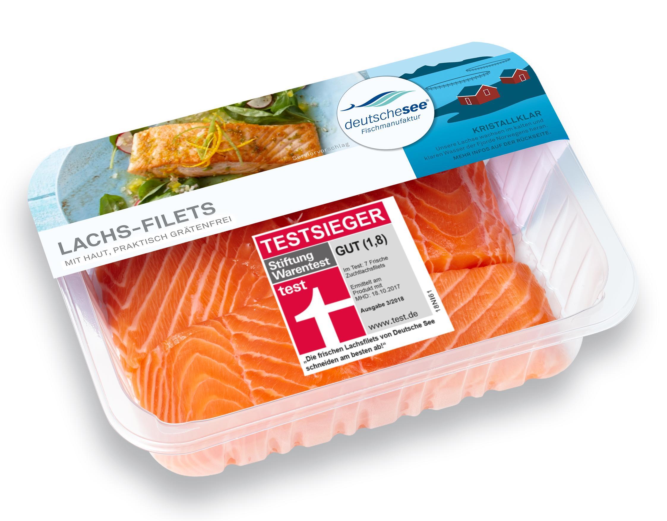 Lachs-Filets von Deutsche See sind Testsieger