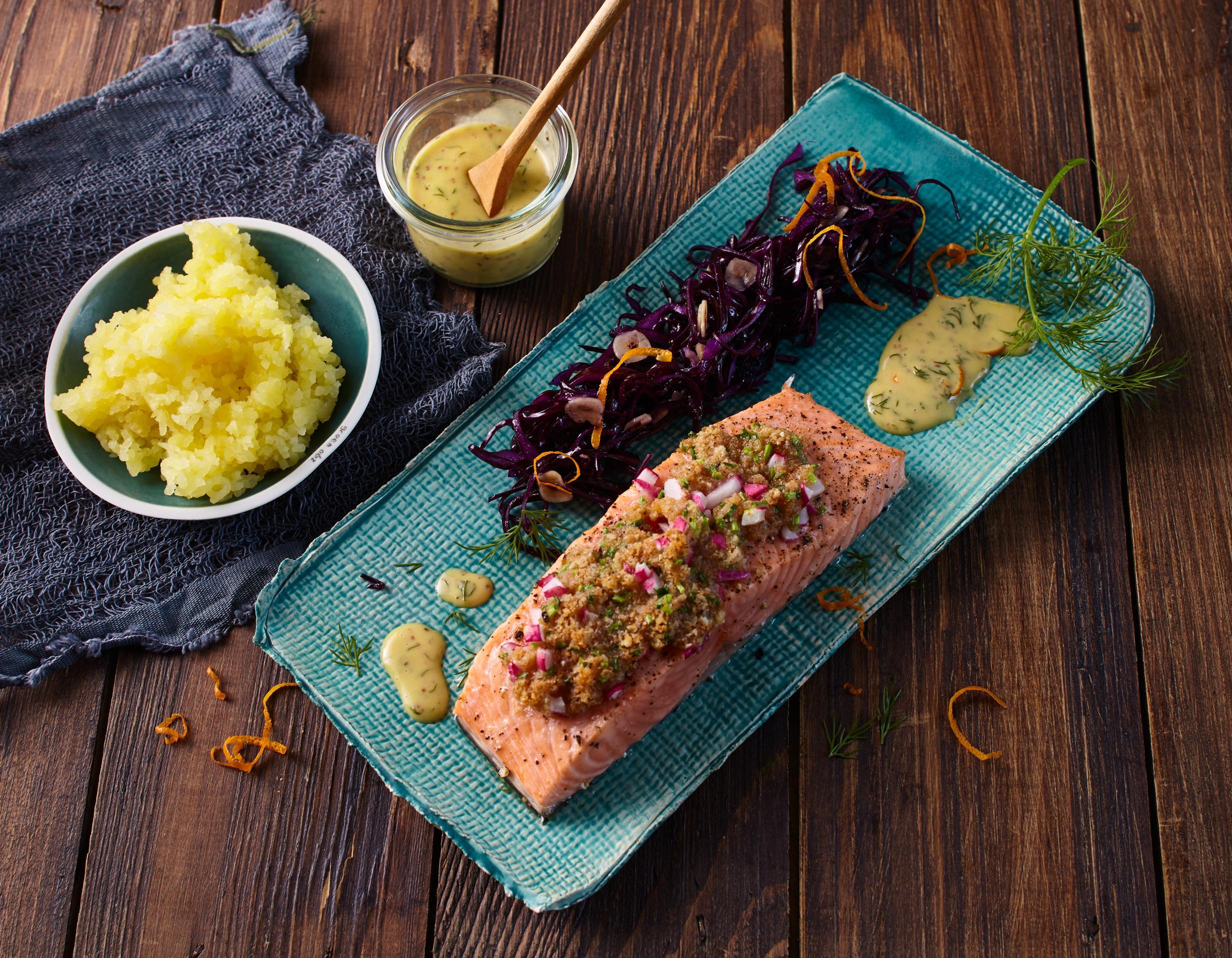 Rezept Isländischer Lachs mit Knäckebrotkruste