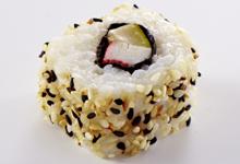 California-Roll-Surimi-Zucchini-Sesam-Wissen-Sushi-Lexikon