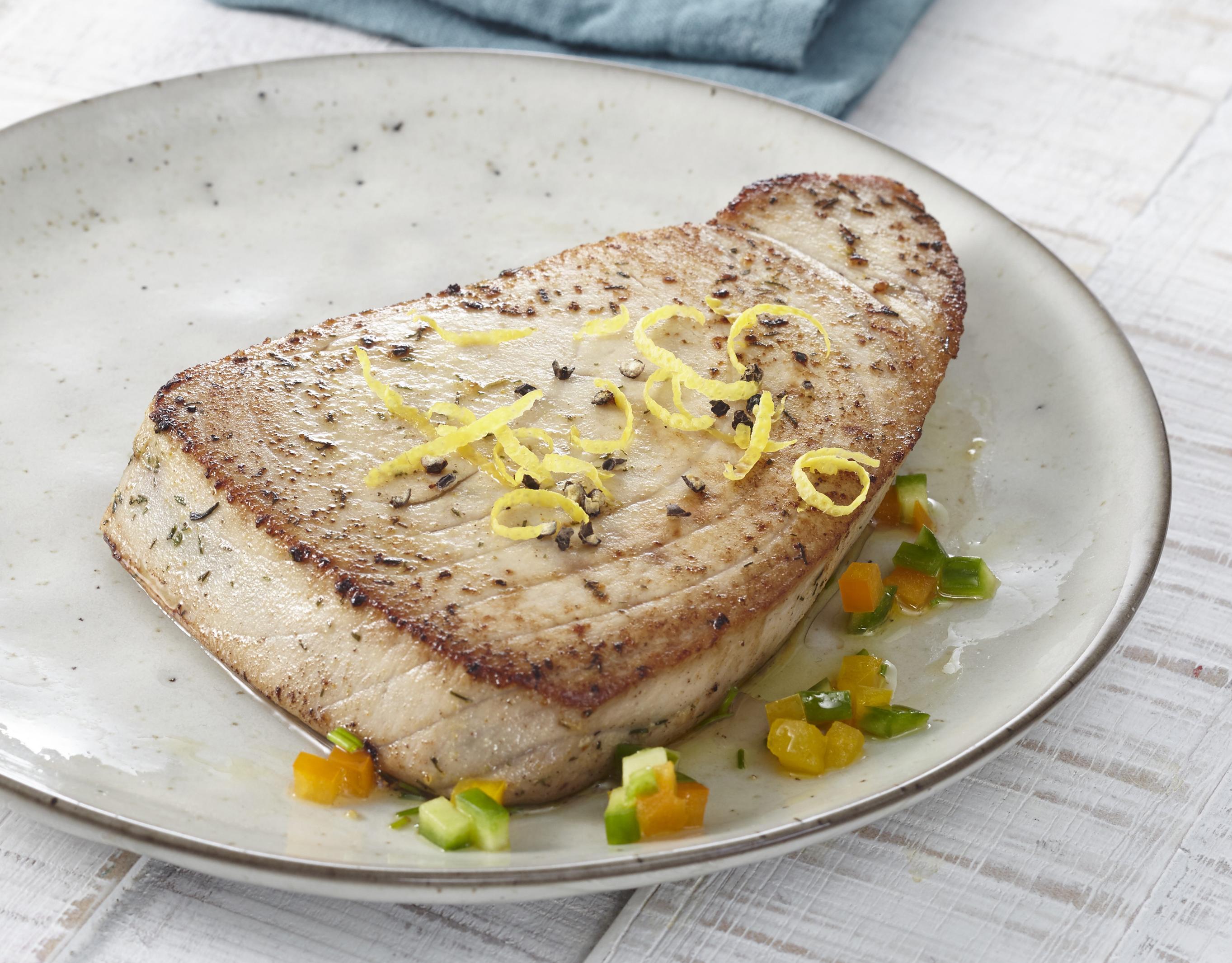 Thunfischsteak Zitrone