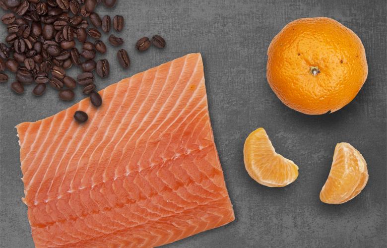 Aromen-kombinieren-Fisch-Kaffee-Mandarine
