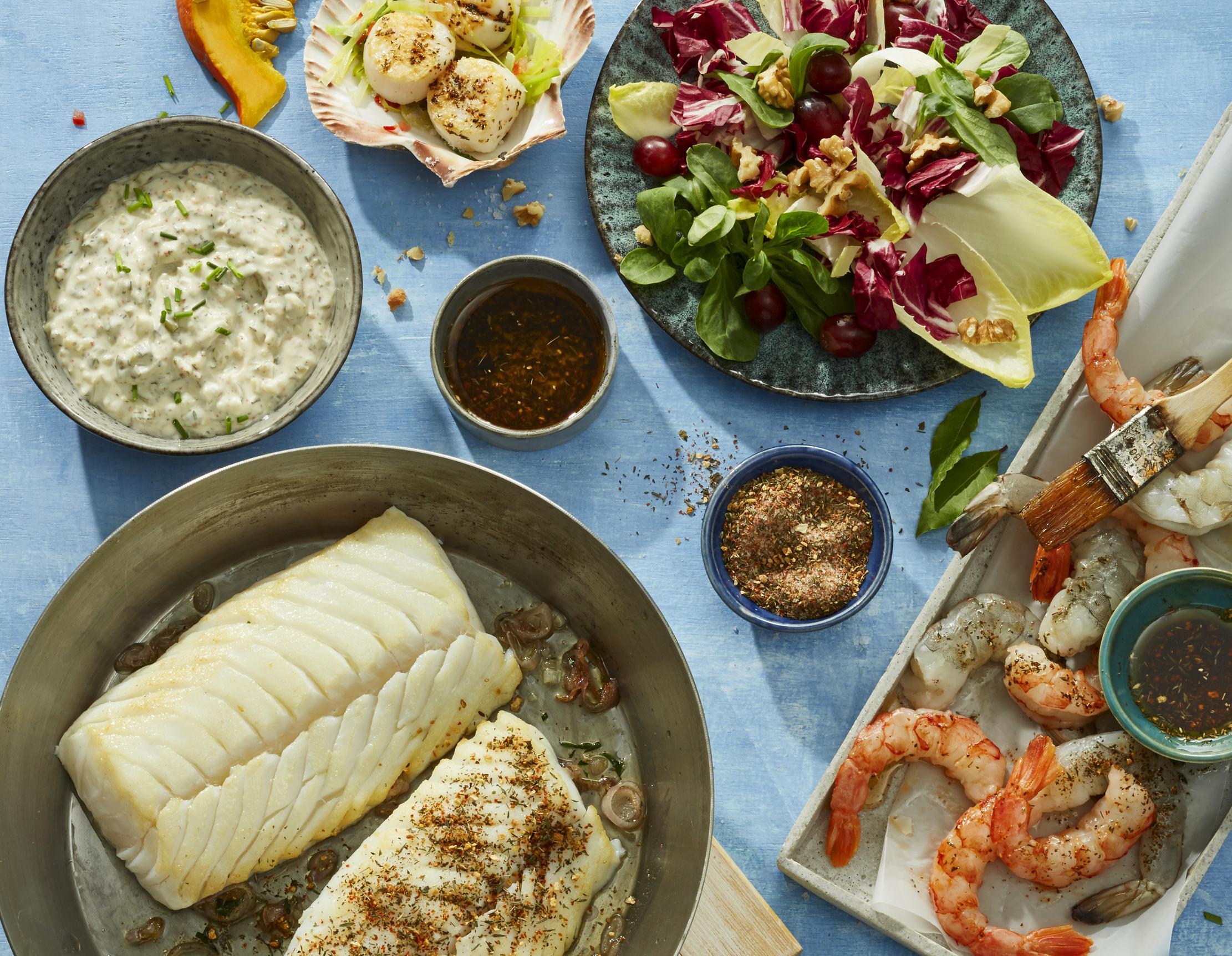 Snacks mit Fisch