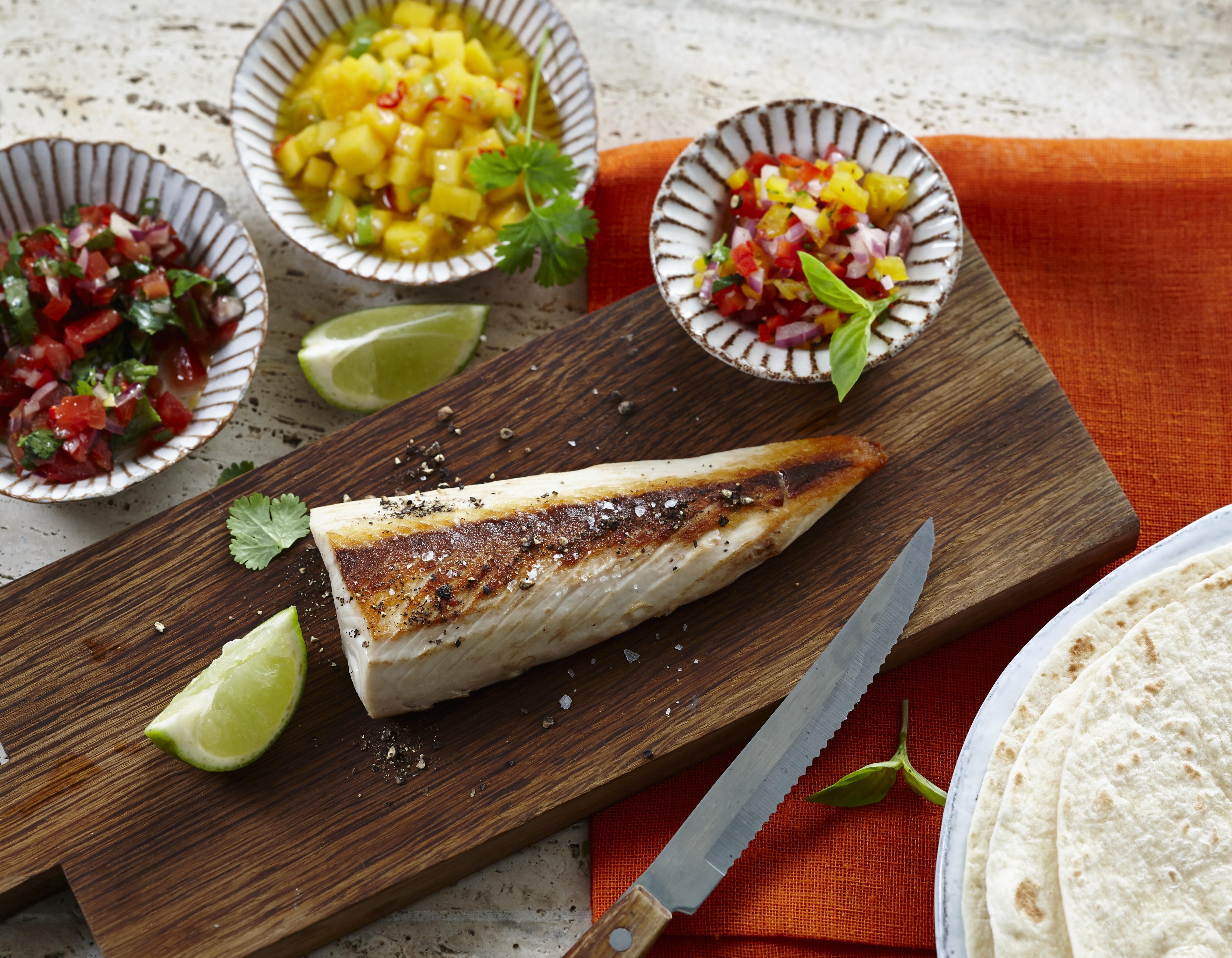 Rezept: Gelbschwanzmakrele mit Tortillas & Salsa