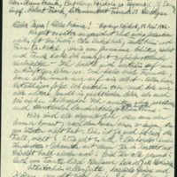 Letter by Hans Frank addresses to his parents in the Łódź Ghetto
