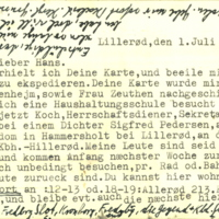 Letter by Walter Bloch from Lillerod addressed to Hans Frank