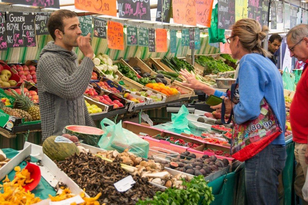 Titelbild - Foto eines Wochenmarktes