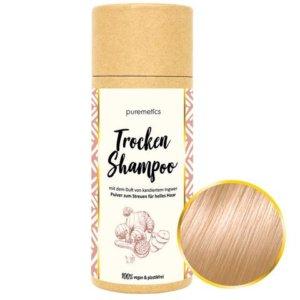 Trockenshampoo Ingwer Kandis helles Haar Puremetics