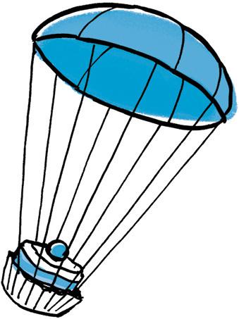 Parachute de patisserie