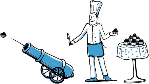 Chef and cannon