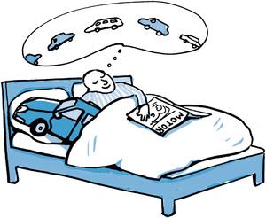 La voiture au lit