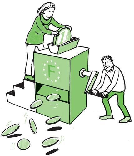 Geldmaschine Frankreich