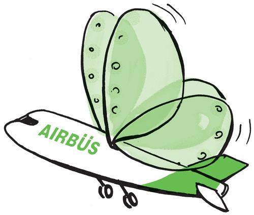 Airbus mit Insektenflügeln
