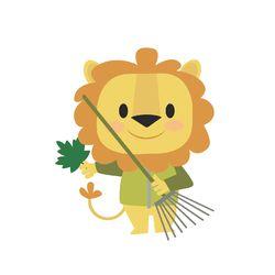 forest animals lion