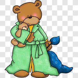 Bear Bedtime in Bathrobe