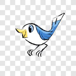 forest animal - blue bird
