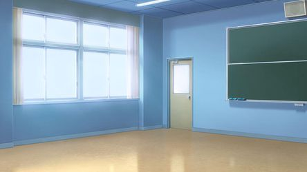 classroom angle empty