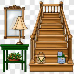 Entryway Stairway Scene