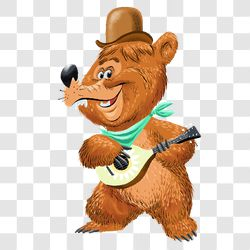 bear playing banjo