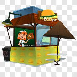 burger food stand