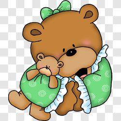 Bear Bedtime Girl Snuggle