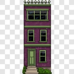 Village Townhouse Purple