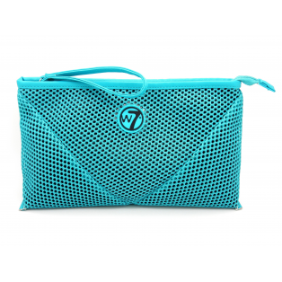 COSMETIC MESH BAG LARGE TURQUOISE