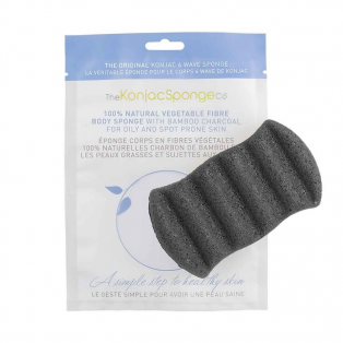 6 Wave Body Konjac Sponge Bamboo Charcoal