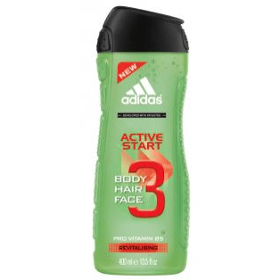 Active Start Body Hair Face 3 In 1 Shower Gel