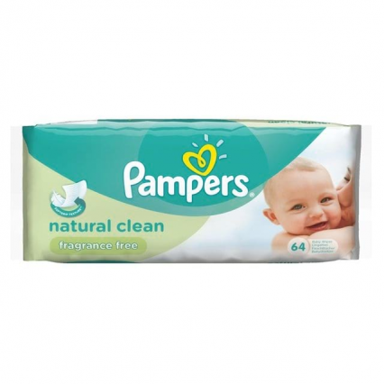 Pampers Baby Natural Clean Fragrance Free Vådservietter