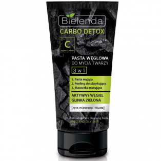 Carbo Detox 3 in 1 Face Cleansing Paste For Mixed And Oily Skin