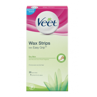 Wax Strips With Easy Grip Dry Skin