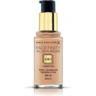 Facefinity All Day Flawless 3 In 1 Foundation 55