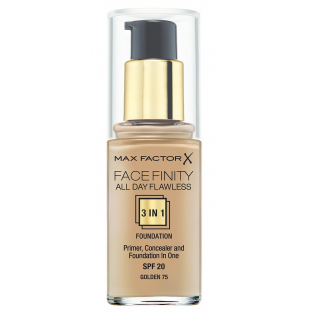 Facefinity All Day Flawless 3 In 1 Foundation Golden 75