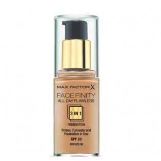 Facefinity All Day Flawless 3 In 1 Foundation 80