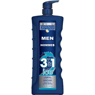 Men 3 in 1 Ice Shampoo, Balsam og Body Wash