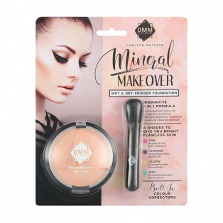 Mineral Makeover Wet & Dry Face Foundation Pressed Powder Makeup Set