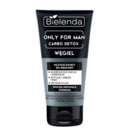Bielenda Only For Men Carbo Detox Cleansing Gel