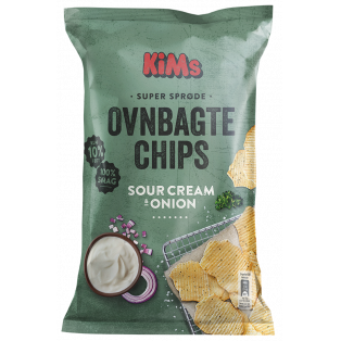 Ovnbagte Chips Med Sour Cream & Onion