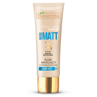 Total Look Nude Matt Mattifying Foundation 01 Light Beige