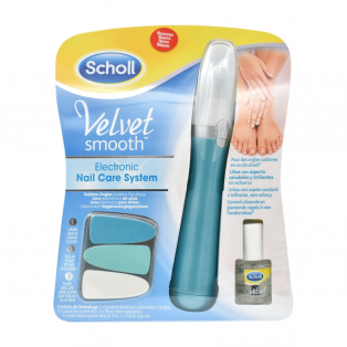 Velvet Smooth Electronic Nail Care System With Nail Care Oil