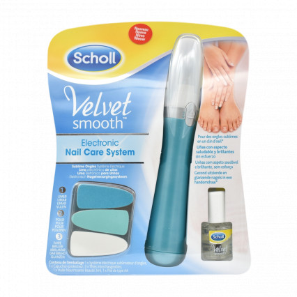 Scholl Velvet Smooth Electronic Nail Care System With Nail Care Oil