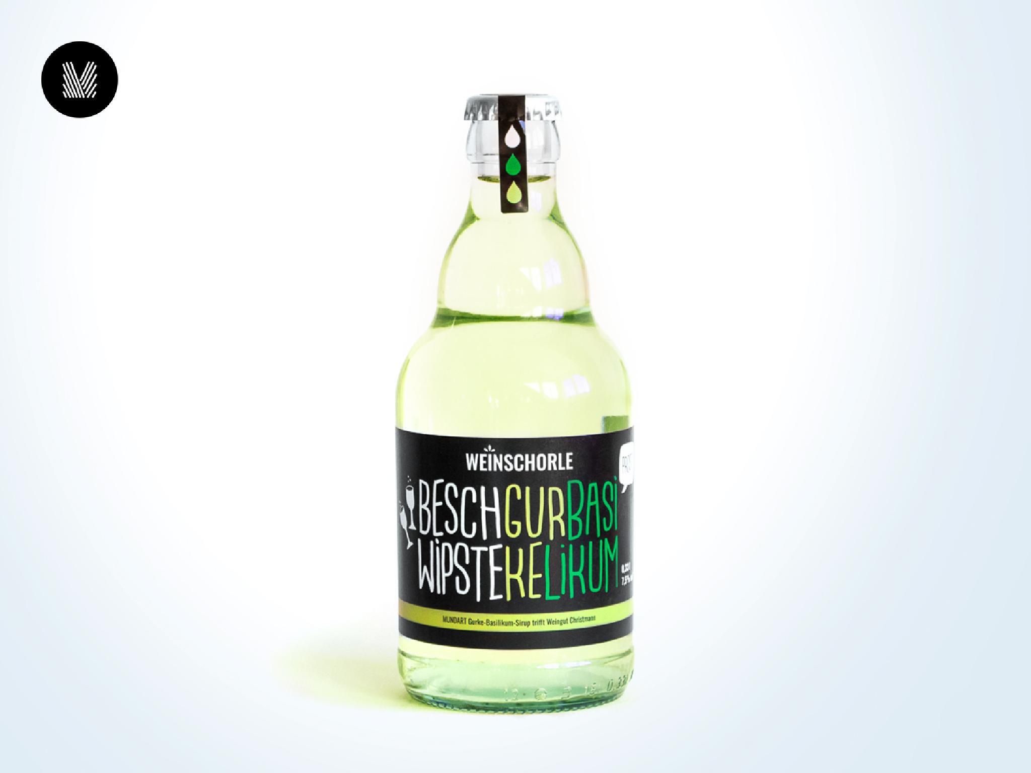 Gurke-Basilikum-Weinschorle (7,5 % vol)