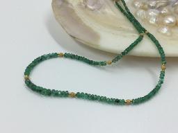 Collier Smaragd mit Größenverlauf - Einzelstück