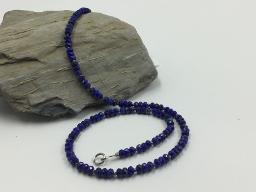 Collier facettierte Lapis Lazuli Rondelle - Einzelstück