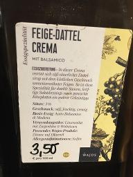 Feige-Dattel Crema Essigzubereitung (3% Säure)