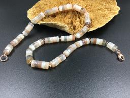 Collier indischer Mondstein als Rondell - Einzelstück