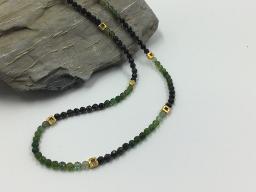 Collier grüner Turmalin mit Farbverlauf - Einzelstück