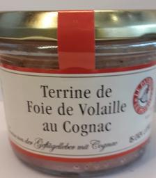 Geflügelleberterrine mit Cognac