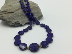 Collier Lapis Lazuli Scheiben mit Größenverlauf - Unikat