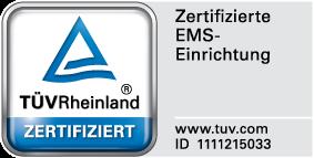 TÜV-Zertifikat EMS-Lounge Kitzingen